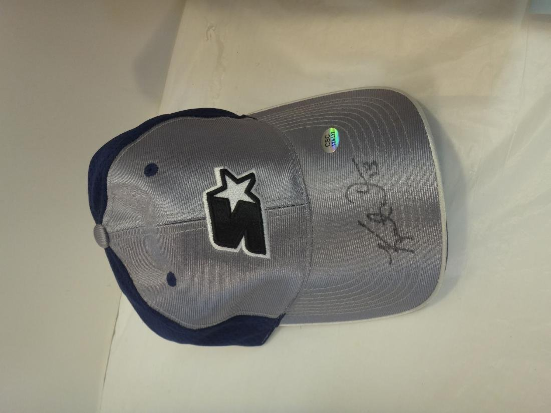 FOOTBALL STARS SIGNED HATS & TIKI BARBER/SIGNED BALL - 2