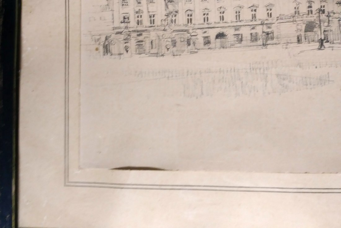 ** EXCEPTIONAL 20TH C. DRAWING OF  BUCKINGHAM PALACE - 3