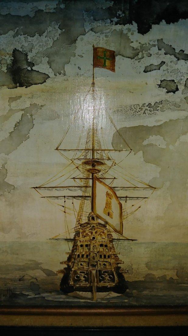 **ANTIQUE SHIP PORTRAIT FERDINAND PALICIO , O/C - 3