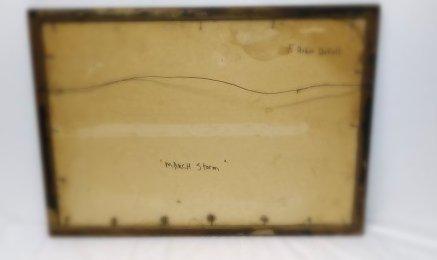 **N.Y. 1930s WIINTER TOWN SCENE, REGIONALIST ARTIST - 3