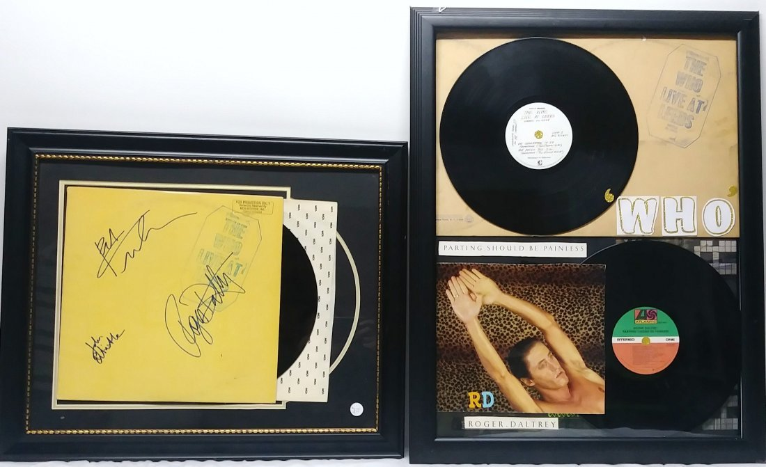 THE WHO LIVE AT LEEDS. SIGNED ALBUM.