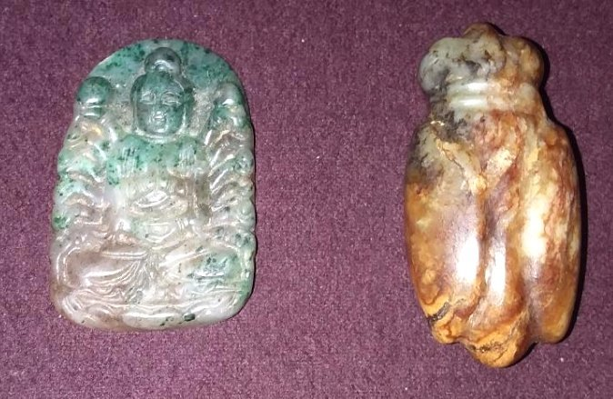 TWO INTERESTING ANTIQUE CHINESE JADES