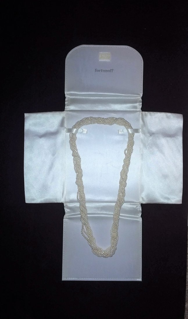 FORTUNOFF EIGHT STRAND TWISTED ROPE PEARL NECKLACE