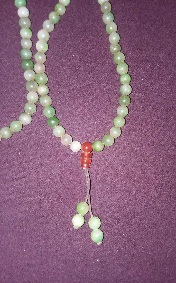A FAR EASTERN CARVED JADE AND MULTI STONE NECKLACE, - 2