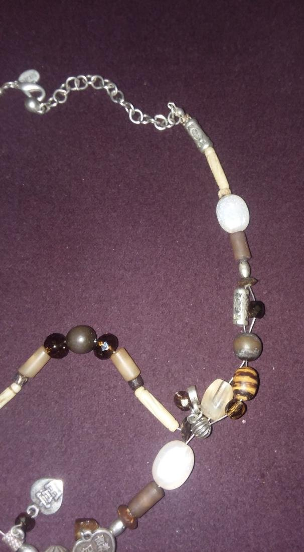 CRAFTED NECKLACE OF ANTIQUE ELEMENTS SILVER, STONE, ETC - 3