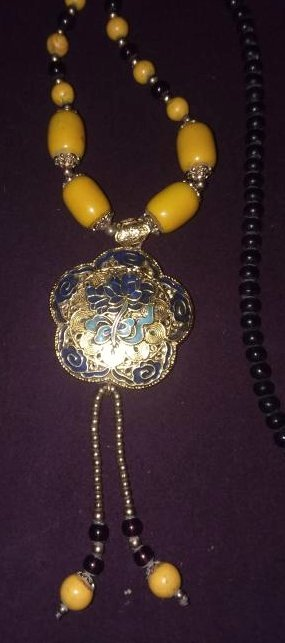 CHINESE BETROTHAL NECKLACE W/FITTINGS & COATED PENDANT