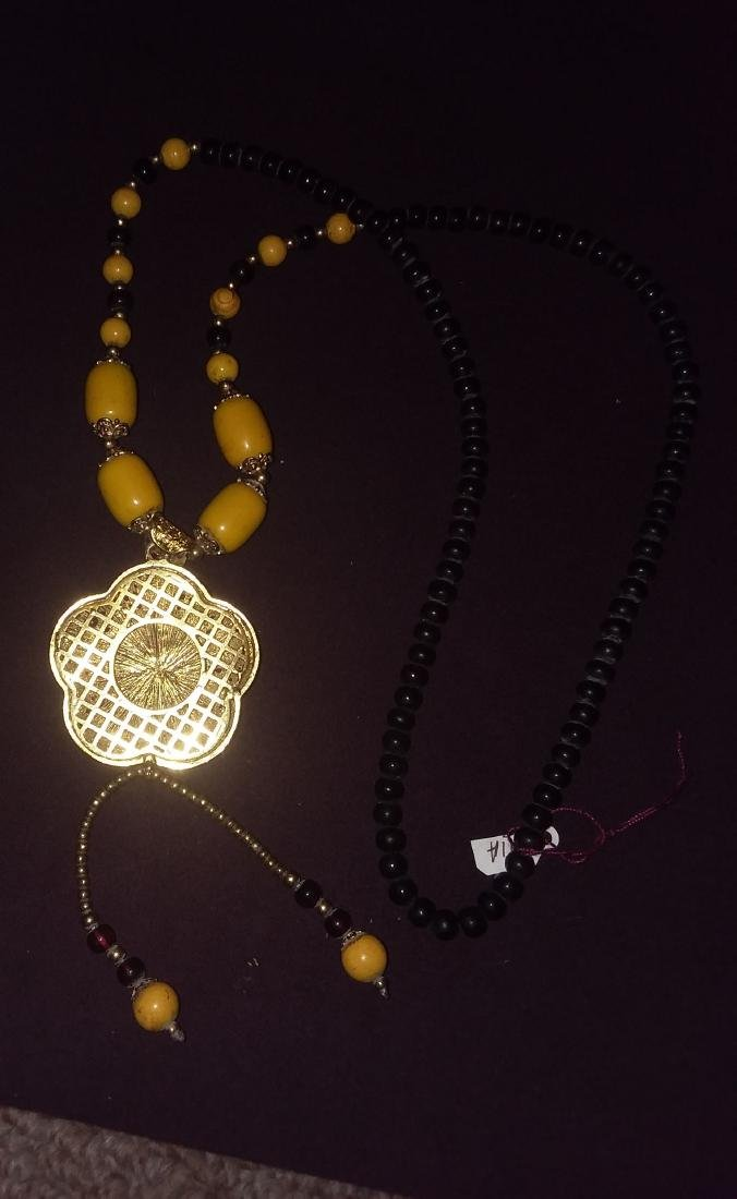 CHINESE BETROTHAL NECKLACE W/FITTINGS & COATED PENDANT - 2