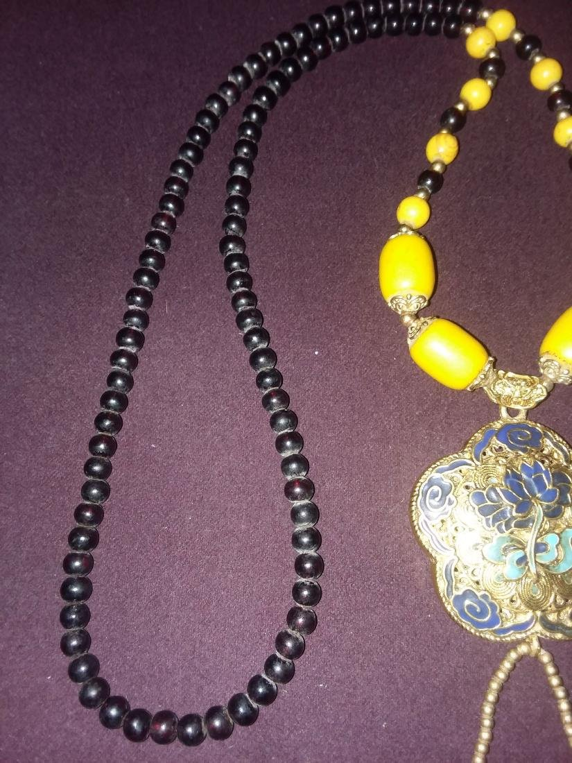 CHINESE BETROTHAL NECKLACE W/FITTINGS & COATED PENDANT - 4