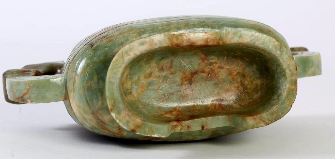 OLD CHINESE JADE VESSEL OF ARCHAIC FORM - 4