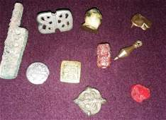 TEN VARIOUS SMALL -MOSTLY ROMAN- ANTIQUITIES