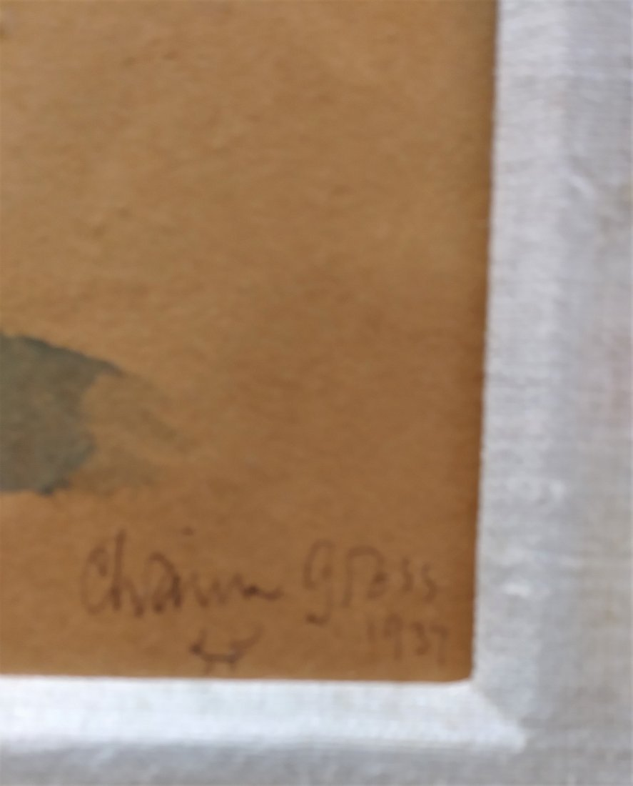 CHAIM GROSS, A FRAMED SET OF 3 WATERCOLORS - 3