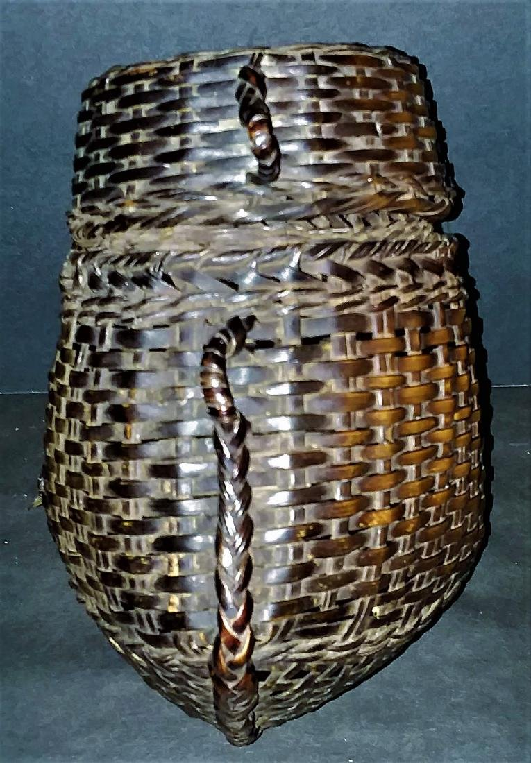 THREE EXCEPTIONAL ASIAN PACIFIC SPLINT BASKETS.