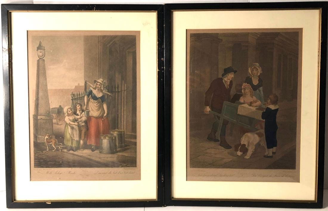 A Pair Of Early French Mezzotints