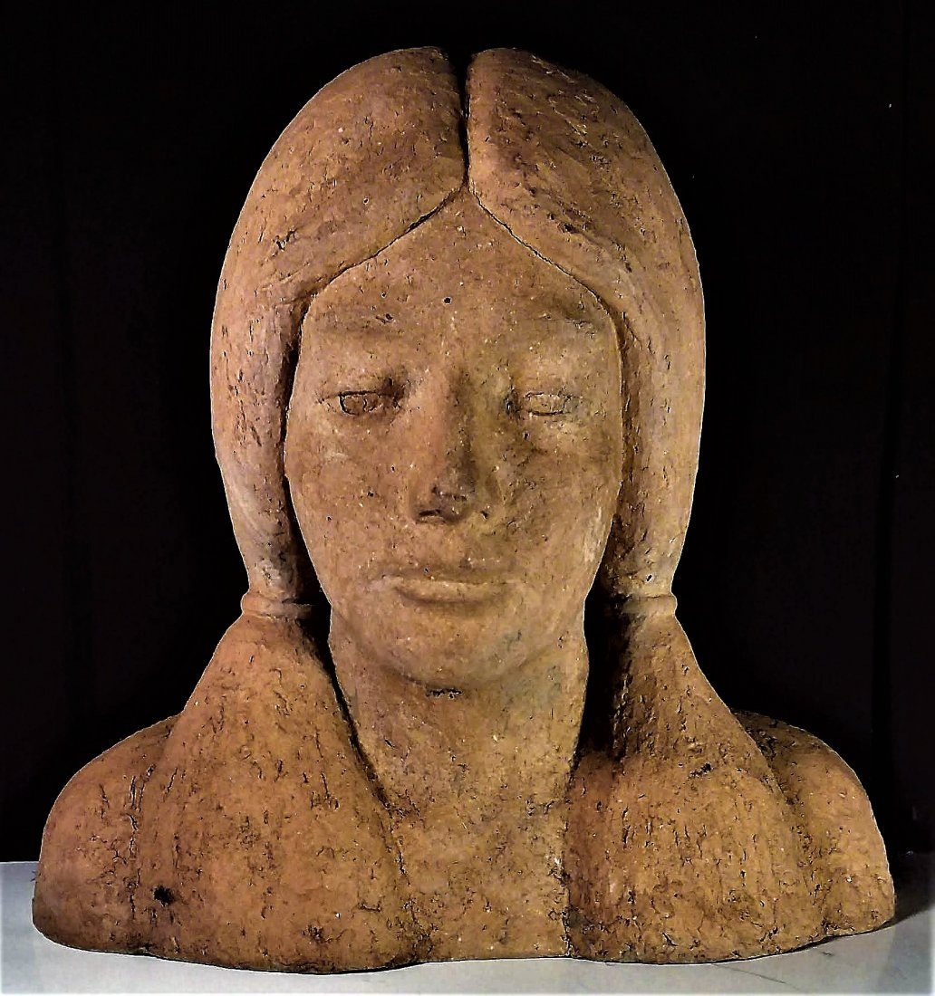 Fine Old Sculpture, Native American Girl