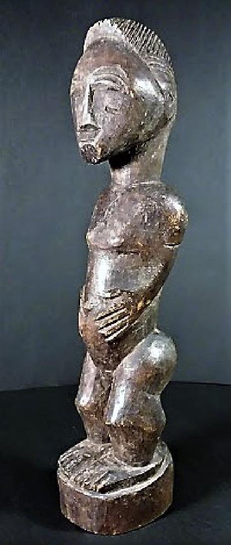 Old 20th Century Baule Tribe Male Figure