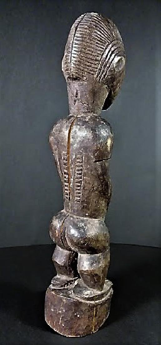 Old 20th Century Baule Tribe Male Figure - 2