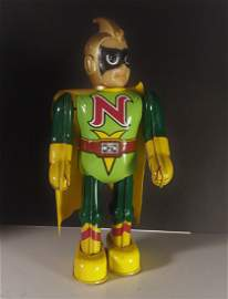 "RARE  BILLIKEN 1995 NATIONAL KID Wind up 9"" Walking Tin"