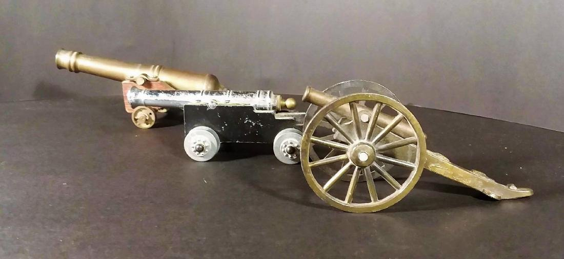 Three Miniature Toy Cannons