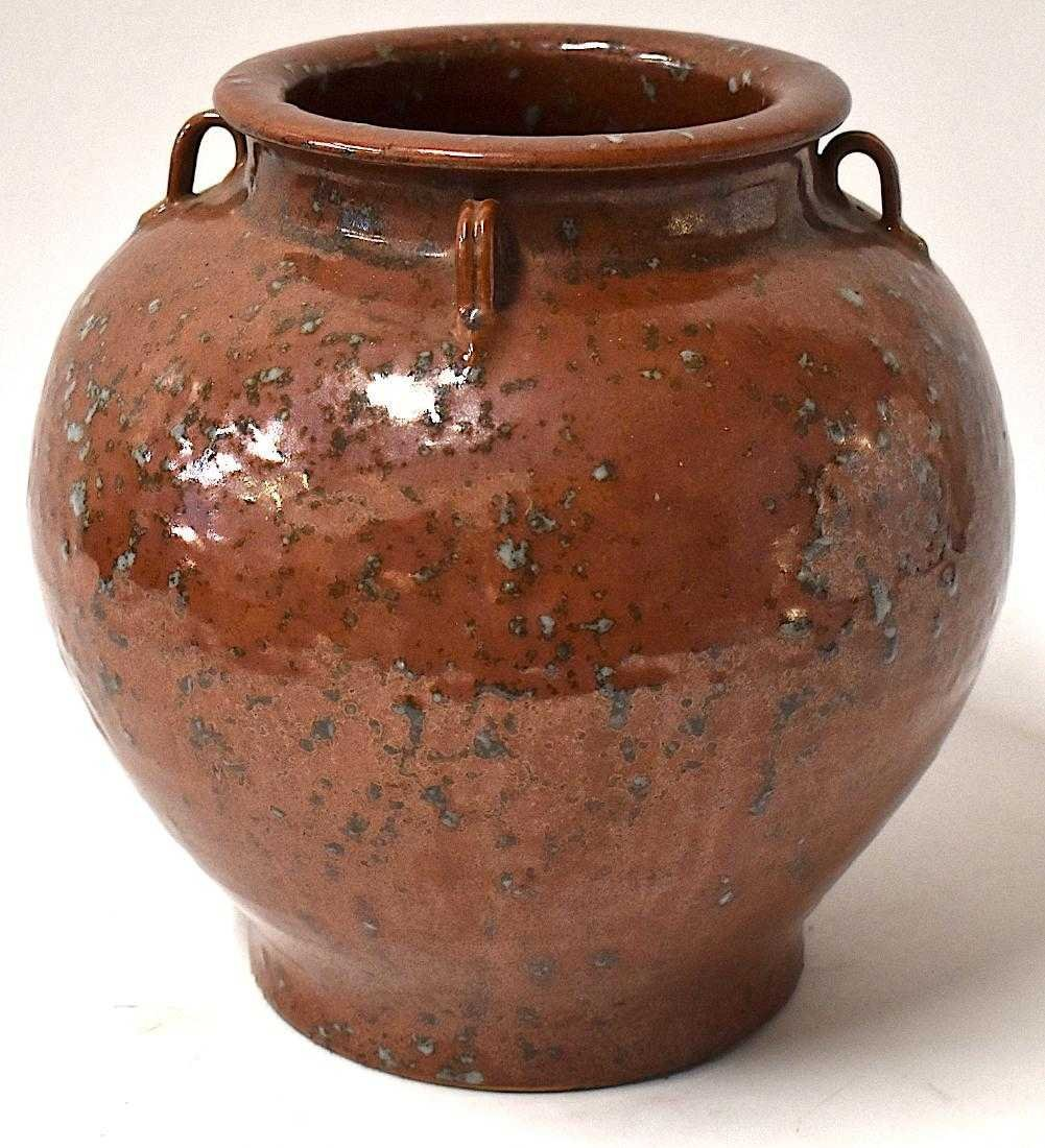 12th C. Chinese Song Red Glazed Storage Jar