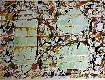 Jacob Semiatin 1915-2003 N.Y. Abstract Expressionist