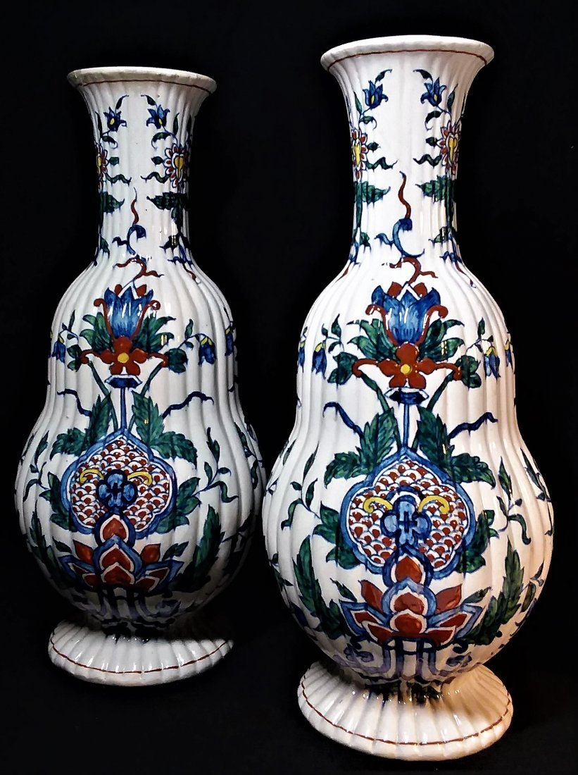 Important Pair Of Early Dutch Delft Vases