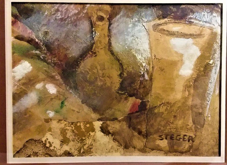 Milly Steger, German oil & collage C 1935