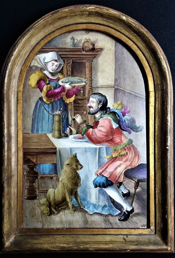 Important Ancient Dutch Painting Tile