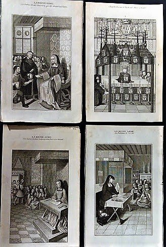 Four Early French Etchings, Anne of Nantes