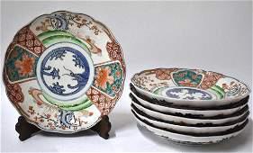 A Fine Set of 6 Early Edo Imari Deep Plates