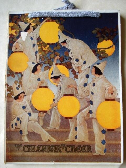 3: LANTERN BEARERS,CALENDAR OF CHEER,MAXFIELD PARRISH