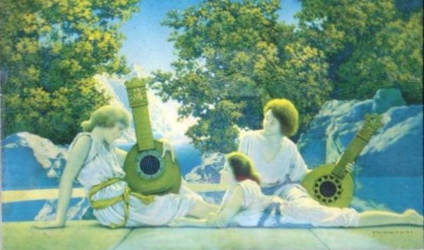 74: THE LUTE PLAYERS - MAXFIELD PARRISH