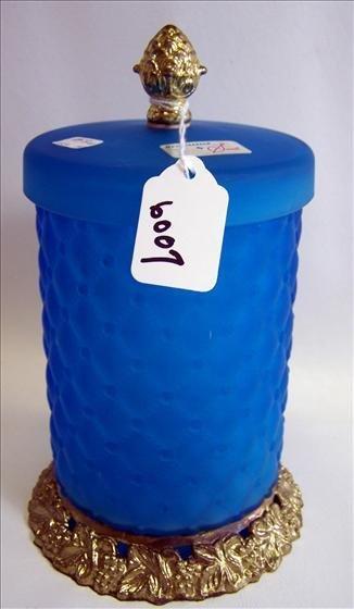 6007: Covered Jar on Brass Bottom