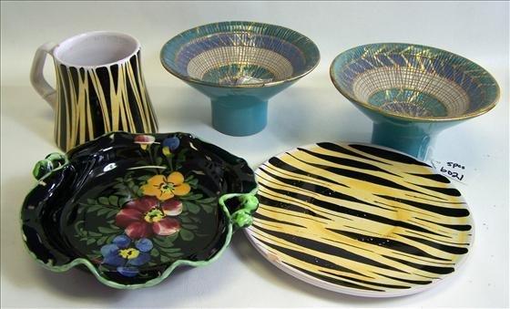 6021: 5 pc Italy Pottery