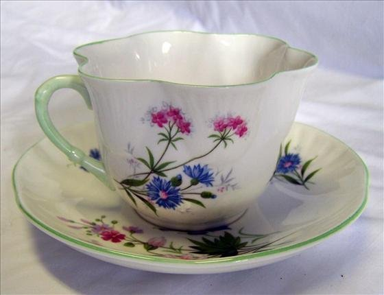 4013: Cup and saucer - Wild Flower