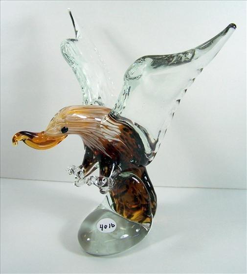 4016: Murano Solid Glass Eagle