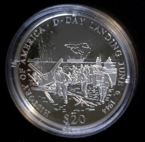 5005: 2001 Silver Republic of Liberia $20