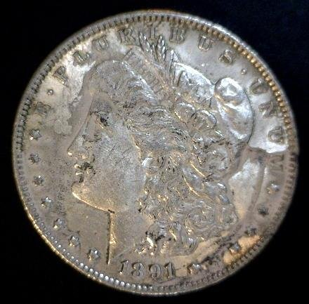 5011: 1891 Morgan Silver Dollar