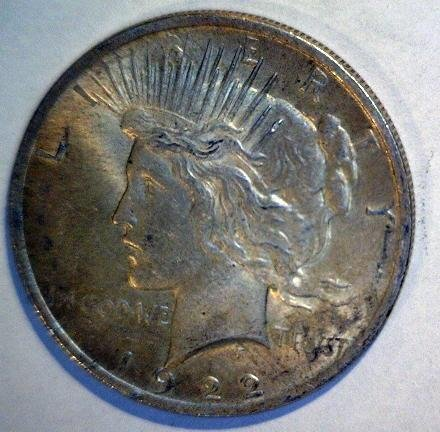 5012: 1922 Peace Silver Dollar