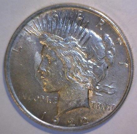 5014: 1922 Peace Silver Dollar