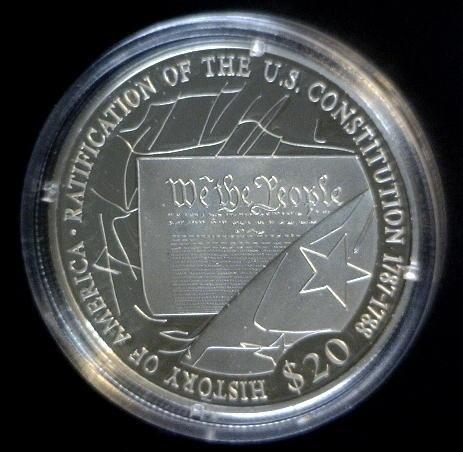 5020: 2006 Silver Republic of Liberia $20