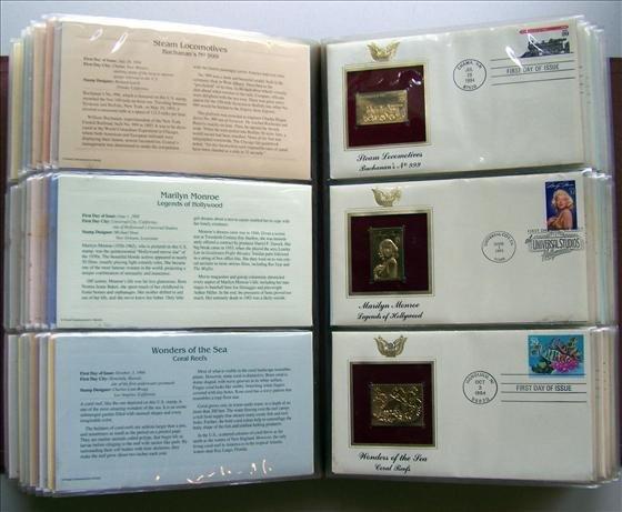 5023: 73 Golden Replicas of U. S. Stamps