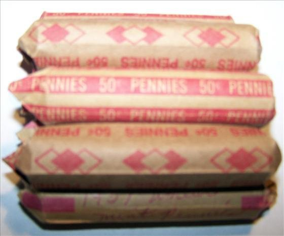 5160: 7 Rolls Lincoln Wheat Cents