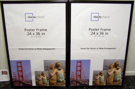 "1102: 2 Frames 24"" X 36"" #1345 & 1347"