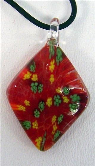"""3002: Murano necklace - 18"""""""