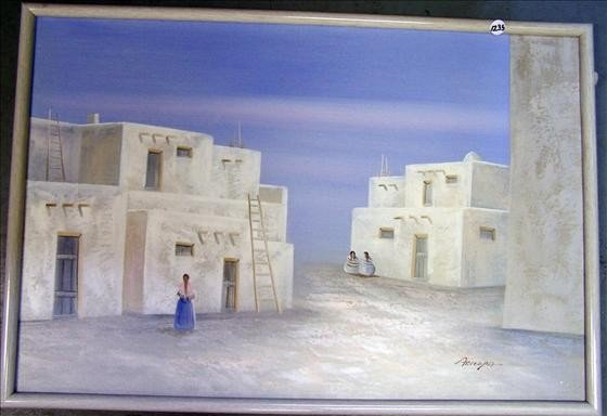 1235: Framed Indian Print by Aricopa