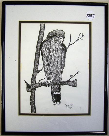 "1237: Parrot in Tree 11"" X 14"""