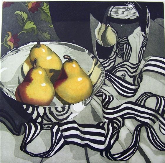 """1238: Pears by Parnell 12"""" X 12"""""""