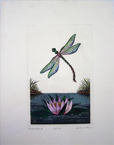 "1240: Dragonfly II By Dan Mitra 10"" X 13"""