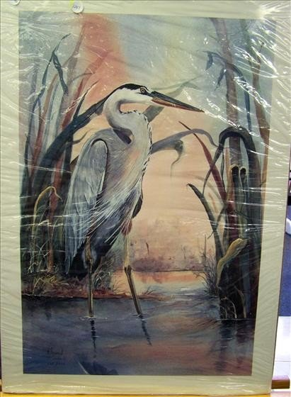 1247: Great Blue Heron By B. Sumrah