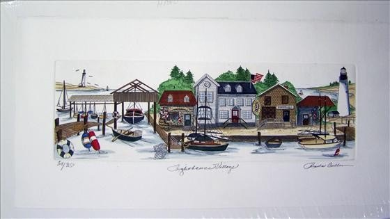 1248: Lighthouse Village Hand Colored